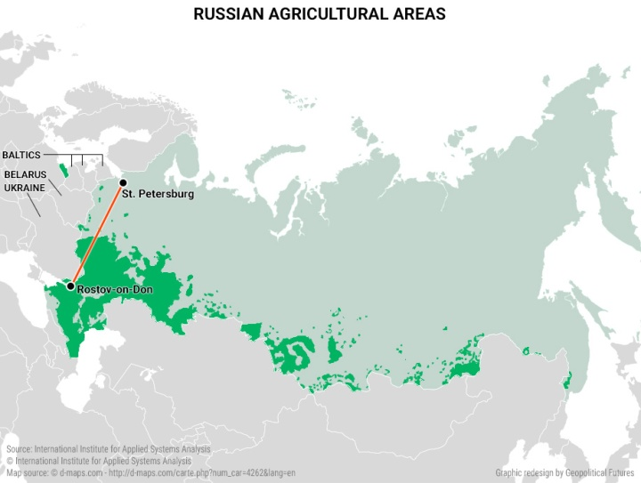 Russian agricultural areas